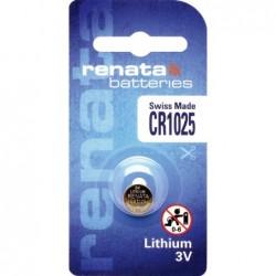 Pile bouton lithium CR1025...