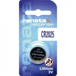 Pile bouton CR2025 RENATA...